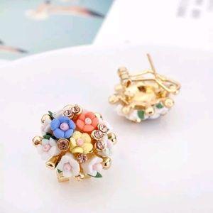 🌟 bogo 50%🌟 Floral cluster stud earrings